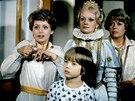 Jana Nagyová, Ondřej Kepka, Jana Brejchová a Jana Drbohlavová v seriálu Arabela (1979)