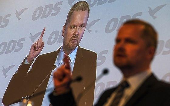Petr Fiala při projevu na kongresu ODS (18. ledna 2014)