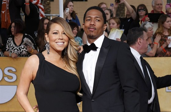 Mariah Carey a Nick Cannon (18. ledna 2014)