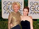 Emma Thompsonová a Gaia Romilly Wise (12. ledna 2014)