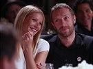 Gwyneth Paltrowová a její manžel Chris Martin (11. ledna 2014)