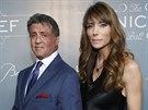 Sylvester Stallone a jeho manželka Jennifer Flavinová (14. ledna 2014)