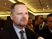 Favorit na předsedu strany, exministr Petr Fiala, na 24. kongresu ODS v Olomouci (18. ledna 2014)