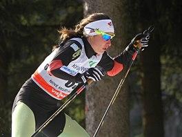 Běžkyně na lyžích Petra Nováková v kvalifikaci sprintu SP v Novém Městě na Moravě