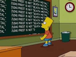 Za chybu v seriálu se musel omluvit Bart v následujícím díle na tabuli