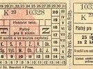 Bloková jízdenka, rok 1900