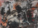 Jeden z obraz� Ludmily Padrtov� z roku 1956. Z�stal bez n�zvu.