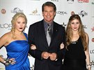 David Hasselhoff a jeho dcery Hayley a Taylor-Ann (3. listopadu 2010)