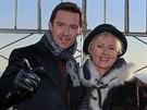 Hugh Jackman a jeho man�elka Deborra-Lee Furnessov� (24. ledna 2014)