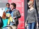 Sean Penn, Charlize Theronová a její syn Jackson (28. ledna 2014)