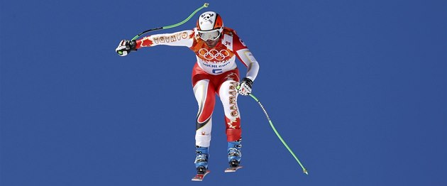 Kana�an Jan Hudec na trati úvodního tréninku na olympijský sjezd v So�i.