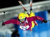 Česká akrobatická lyžařka Nikola Sudová postoupila z prvního kola finálových jízd v boulích z prvního místa, celkově ale skončila devátá. (8. února 2014)