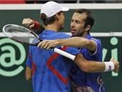 D�LE�ITÁ VÝHRA. �eským tenist�m sta�í k postupu z 1. kola Davis cupu p�es