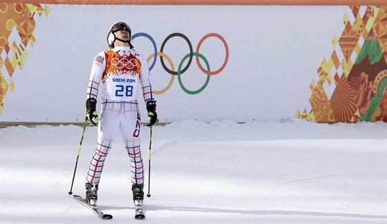 �esk� ly�a� Ond�ej Bank ve druh�m kole ob��ho slalomu nabral ztr�tu a propadl se na p�t� m�sto. (19. �nora 2014)