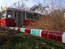 Policisté vyšetřují smrt ženy, kterou lidé našli v tramvaji linky číslo 17 v pražských Modřanech (13.2.2014)
