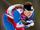 Česká běžkyně na lyžích Petra Nováková při kvalifikačním sprintovém závodu v olympijském středisku Laura Cross Country. (11. února 2014)