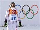 Český lyžař Ondřej Bank ve druhém kole obřího slalomu nabral ztrátu a propadl se na páté místo. (19. února 2014)