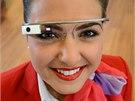 Britské aerolinky Virgin Atlantic testují na londýnském letišti Heathrow brýle Google Glass.