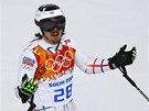 V ŠOKU. Ondřej Bank figuroval po prvním kole obřího slalomu na olympijských hrách v Soči na druhém místě.