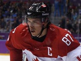 HVĚZDA. Kanadský útočník Sidney Crosby při utkání s Norskem.