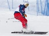 DOBRÁ POZICE. Skikrosař Tomáš Kraus si v kvalifikaci olympijského skikrosu vytvořil solidní výchozí pozici do osmifinále.