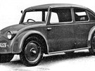 Prototyp malého lidového vozu Tatra V570 s aerodynamickou karosérií z roku 1933