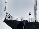 Loď Moskva kotvící ještě v ukrajinském Sevastopolu v roce 2007