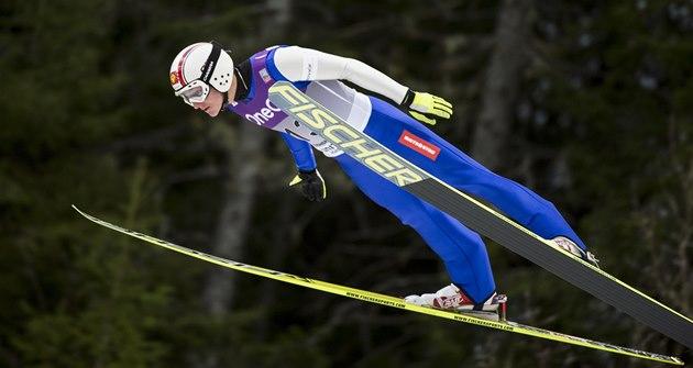 �eský sdru�ená� Tomá� Portyk v závod� Sv�tového poháru v Trondheimu.