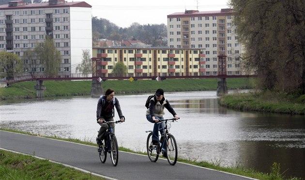 Cyklostezka podél řeky moravy v napajedlích