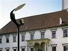 Původní navrhovaná podoba lamp, které měly osvětlit Horní náměstí v Olomouci - takzvaná plácačka.