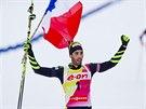 Francouzský biatlonista Martin Fourcade se raduje nejen z vít�zství v posledním...