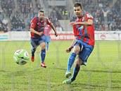 Střídající Michal Ďuriš z Plzně suverénně proměnil penaltu a stanovil konečné skóre zápasu proti Liberci na 6:0.