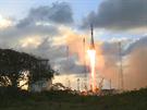 Start nosné rakety s družicí Sentinel 1A na palubě. 3.4.2014 3. Kourou  Francouzská Guyana. Snímek obrazovky z řídícího střediska ESA.