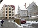 """Ostudou """"Liebiegovy čtvrti"""" jsou chátrající budovy Blaunpunktu a mateřské školky v Klicperově ulic."""