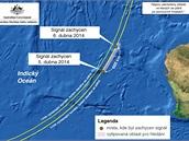 MAPA: Pátrání po černých skříňkách MH370