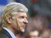 NESPOKOJENÝ. Trenér Arsenalu Arsene Wenger se netváří zrovna nadšeně.