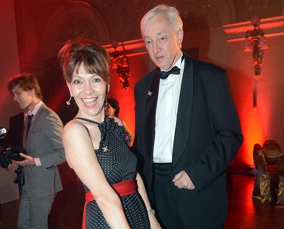 Ples Prahy 1 - Michaela Dolinová s manželem Janem Sváčkem