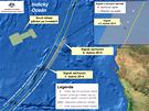 MAPA: P�tr�n� po �ern�ch sk���k�ch a trosk�ch MH370