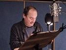 Viktor Preiss při natáčení audioknihy