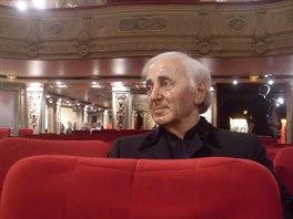 Charles Aznavour v Mus�e Gr�vin Paris