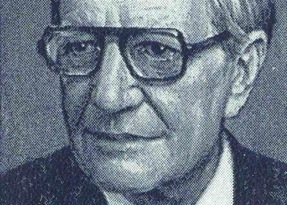 """Harold Adrian Russell """"Kim"""" Philby (1912 – 1988) na sovětské známce. Novinář a příslušník MI 6. Prozradil řadu protisovětských operací."""