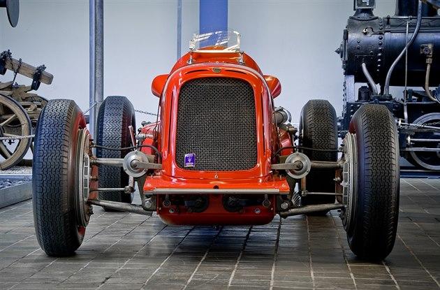 Výstava voz� Maserati v Národním technickém muzeu v Praze