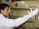 Výroba octavií v čínském Ningbo nedaleko Šanghaje. Zbrusu nová továrna otevřela na podzim roku 2013. Patří společnému podniku (joint-venture) SAIC-Volkswagen, vyrábí dnes ale výhradně octavie a superby.