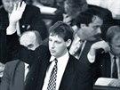 Mladý poslanec ČSSD Stanislav Gross (leden 1996)