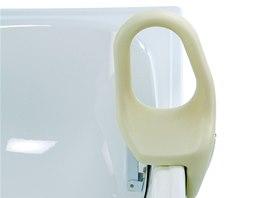 Švédské madlo 566. Nastavitelné podle šířky vany 8 až 18 cm, výška 32 cm. Fixační rychloupínací šroub. Cena 777 Kč.