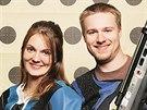 Kateřina Emmons s manželem Matthewem Emmonsem, který má také tři olympijské medaile ze střelby malorážkou.
