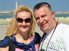 Linda Finková a její nový partner Milan Večes tráví dovolenou v Maroku.