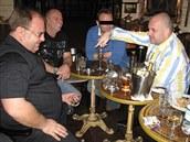 Společně v Barceloně (zleva) hejtman Miroslav Novák, podnikatel Oldřich Lahoda a Martin Dědic (úplně vpravo).