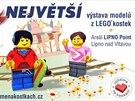 Ujíždíme na kostkách: největší výstava LEGO modelů v ČR začíná