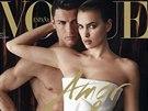 Cristiano Ronaldo a Irina Šaiková na obálce časopisu Vogue.